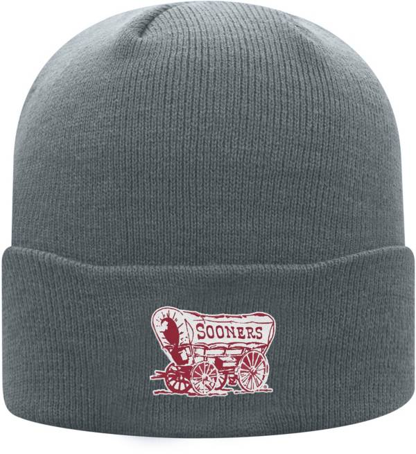 Top of the World Men's Oklahoma Sooners Grey Cuff Knit Beanie product image