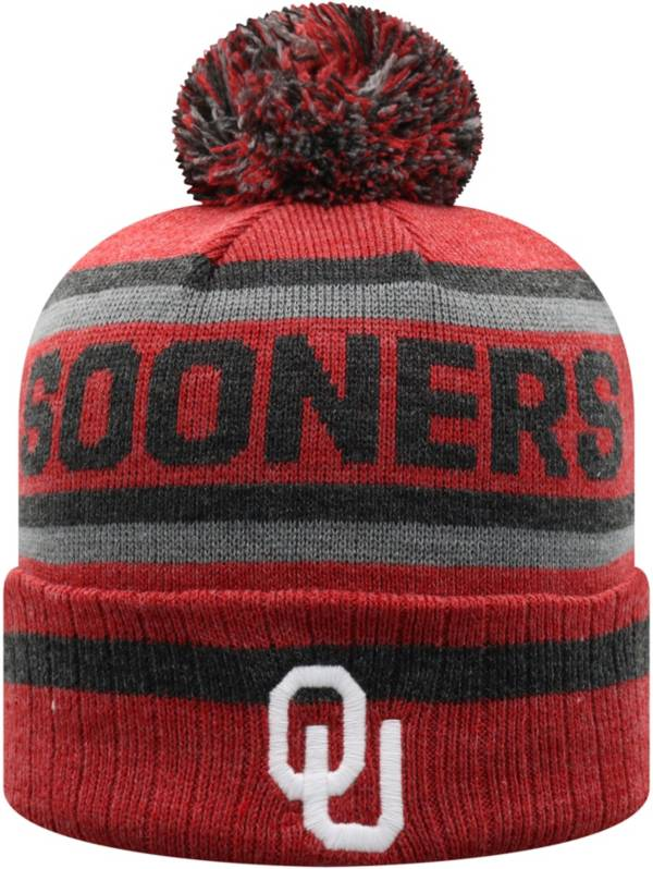 Top of the World Men's Oklahoma Sooners Crimson Buddy Cuffed Pom Knit Beanie product image