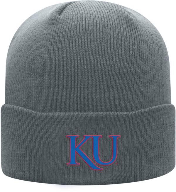 Top of the World Men's Kansas Jayhawks Grey Cuff Knit Beanie product image