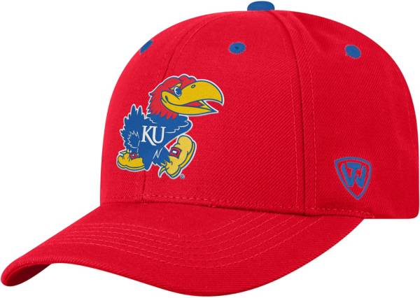 Top of the World Men's Kansas Jayhawks Crimson Triple Threat Adjustable Hat product image