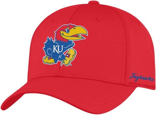 Top of the World Men's Kansas Jayhawks Crimson Phenom 1Fit Flex Hat product image
