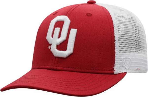 Top of the World Men's Oklahoma Sooners Crimson/White Trucker Adjustable Hat product image