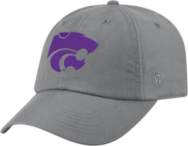 Top of the World Men's Kansas State Wildcats Silver Staple Adjustable Hat product image
