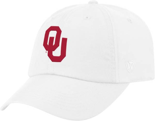 Top of the World Men's Oklahoma Sooners Staple Adjustable White Hat product image