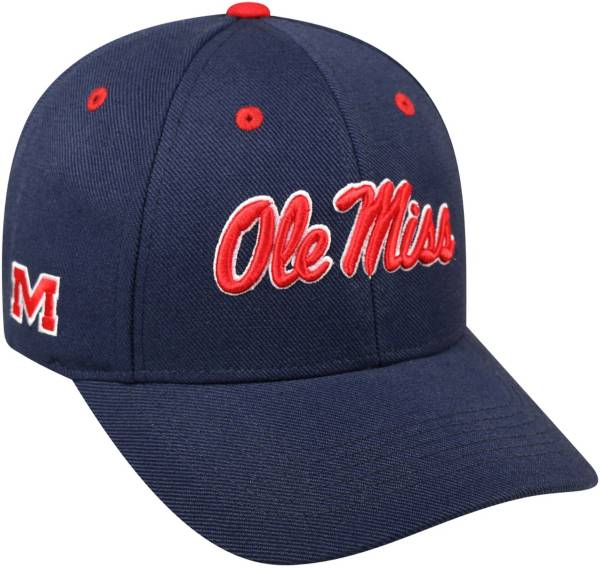 Top of the World Men's Ole Miss Rebels Blue Triple Threat Adjustable Hat product image