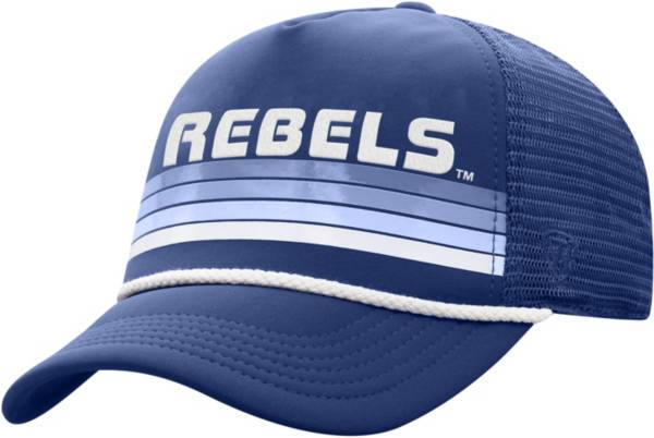 Top of the World Men's Ole Miss Rebels Blue Wipeout Adjustable Snapback Hat product image
