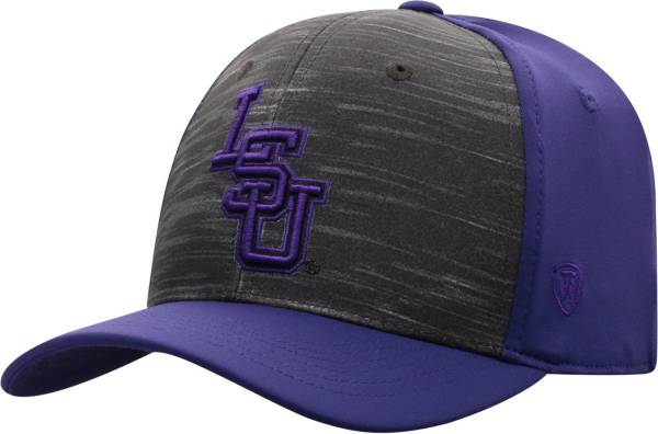 Top of the World Men's LSU Tigers Grey/Purple Pepper 1Fit Flex Hat product image