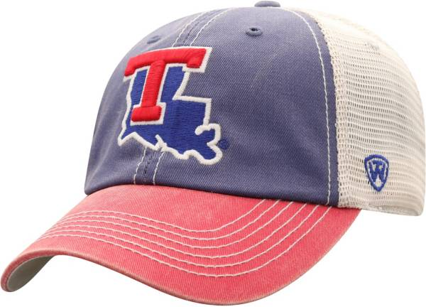 Top of the World Men's Louisiana Tech Bulldogs Blue/White Off Road Adjustable Hat product image