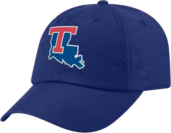 Top of the World Men's Louisiana Tech Bulldogs Blue Staple Adjustable Hat product image