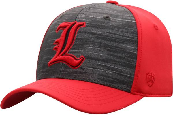 Top of the World Men's Louisville Cardinals Grey/Cardinal Red Pepper 1Fit Flex Hat product image