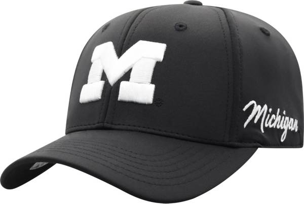Top of the World Men's Michigan Wolverines Phenom 1Fit Flex Black Hat product image