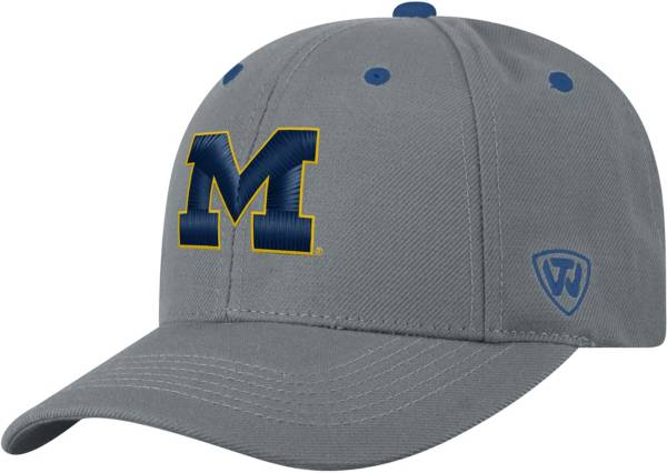 Top of the World Men's Michigan Wolverines Grey Triple Threat Adjustable Hat product image