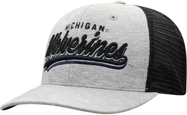 Top of the World Men's Michigan Wolverines Grey/Black Cutter Adjustable Hat product image
