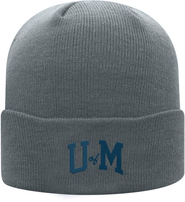 Top of the World Men's Michigan Wolverines Grey Cuff Knit Beanie product image