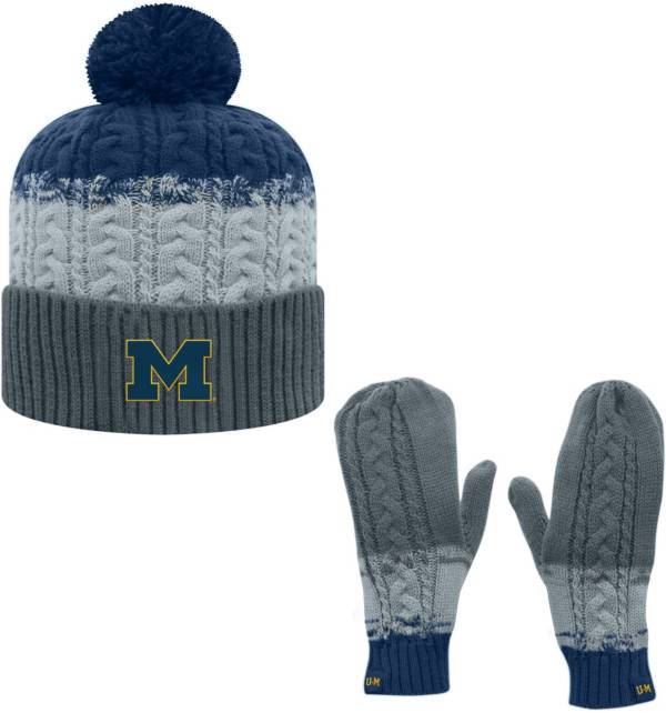 Top of the World Youth Michigan Wolverines Blue Disperse Beanie and Gloves Set product image