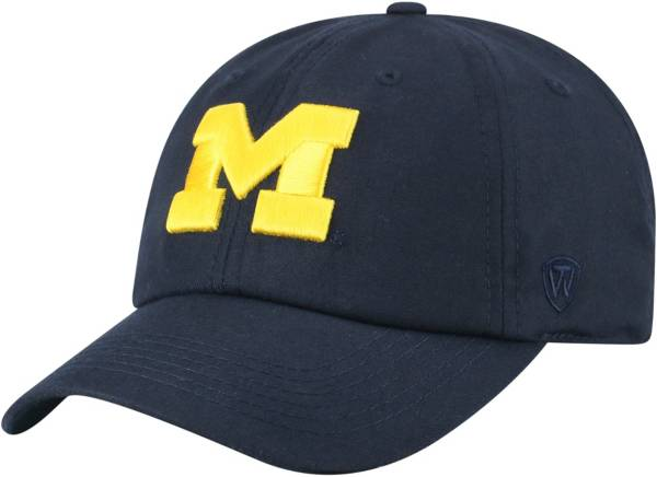Top of the World Men's Michigan Wolverines Blue Staple Adjustable Hat product image