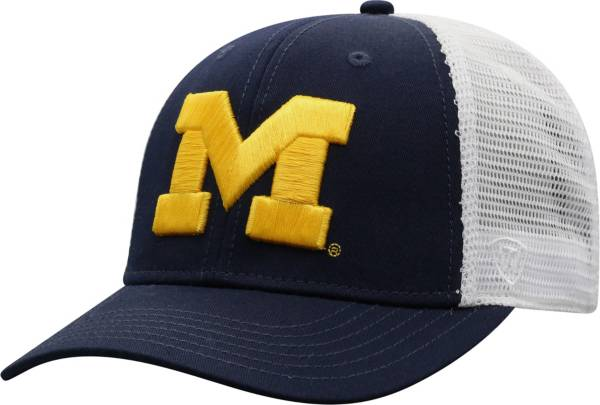 Top of the World Men's Michigan Wolverines Blue/White Trucker Adjustable Hat product image