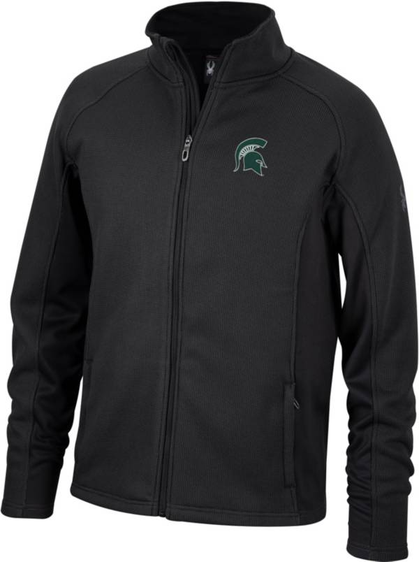 Spyder Men's Michigan State Spartans Constant Full-Zip Fleece Black Jacket product image