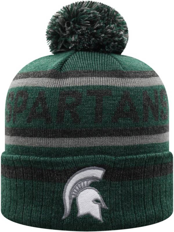 Top of the World Men's Michigan State Spartans Green Buddy Cuffed Pom Knit Beanie product image