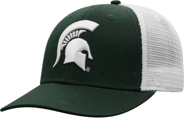 Top of the World Men's Michigan State Spartans Green/White Trucker Adjustable Hat product image
