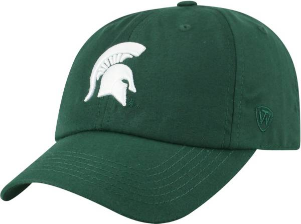 Top of the World Men's Michigan State Spartans Green Staple Adjustable Hat product image