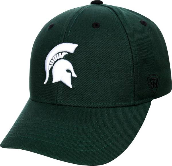 Top of the World Men's Michigan State Spartans Green Triple Threat Adjustable Hat product image