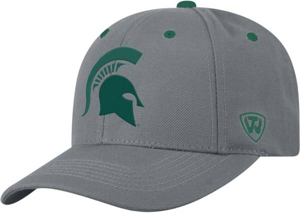 Top of the World Men's Michigan State Spartans Grey Triple Threat Adjustable Hat product image