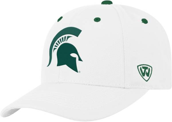 Top of the World Men's Michigan State Spartans Triple Threat Adjustable White Hat product image