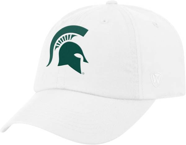 Top of the World Men's Michigan State Spartans Staple Adjustable White Hat product image