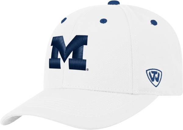 Top of the World Men's Michigan Wolverines Triple Threat Adjustable White Hat product image
