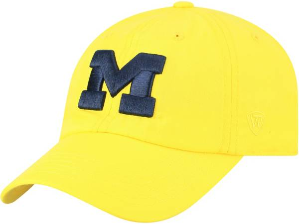 Top of the World Men's Michigan Wolverines Maize Staple Adjustable Hat product image