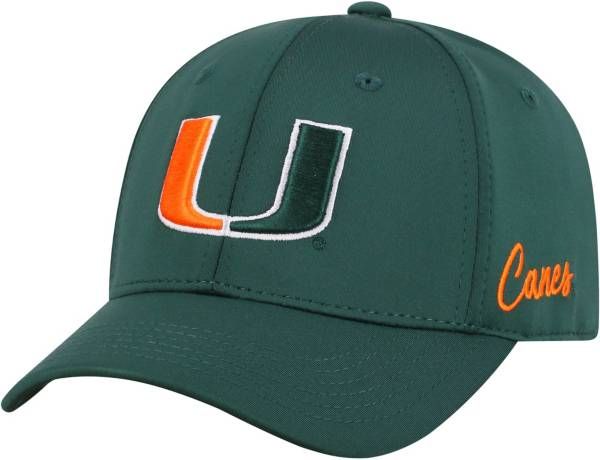 Top of the World Men's Miami Hurricanes Green Phenom 1Fit Flex Hat product image