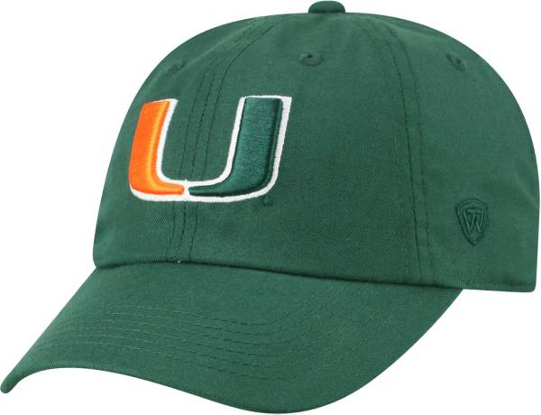 Top of the World Men's Miami Hurricanes Green Staple Adjustable Hat product image