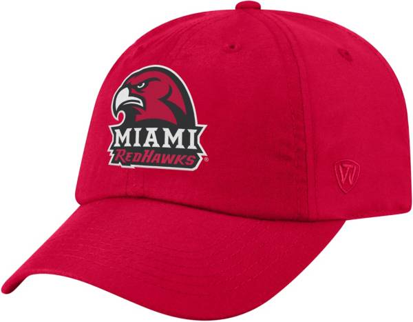 Top of the World Men's Miami RedHawks Red Staple Adjustable Hat product image