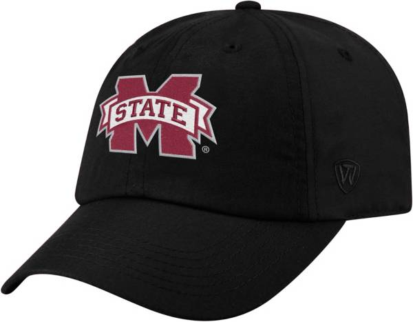 Top of the World Men's Mississippi State Bulldogs Staple Adjustable Black Hat product image