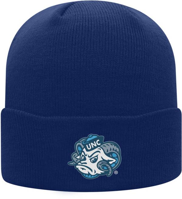 Top of the World Men's North Carolina Tar Heels Navy Cuff Knit Beanie product image