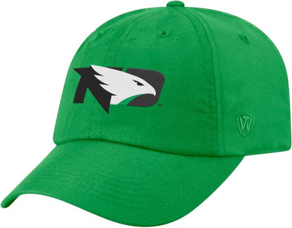 Top of the World Men's North Dakota Fighting Hawks Green Staple Adjustable Hat product image