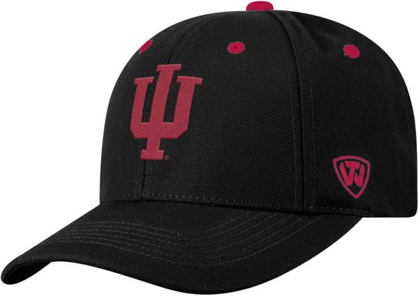 Top of the World Men's Indiana Hoosiers Triple Threat Adjustable Black Hat product image