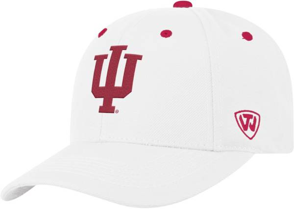Top of the World Men's Indiana Hoosiers Triple Threat Adjustable White Hat product image