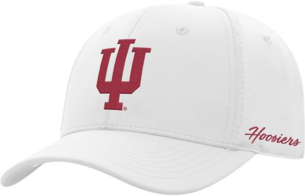 Top of the World Men's Indiana Hoosiers Phenom 1Fit Flex White Hat product image