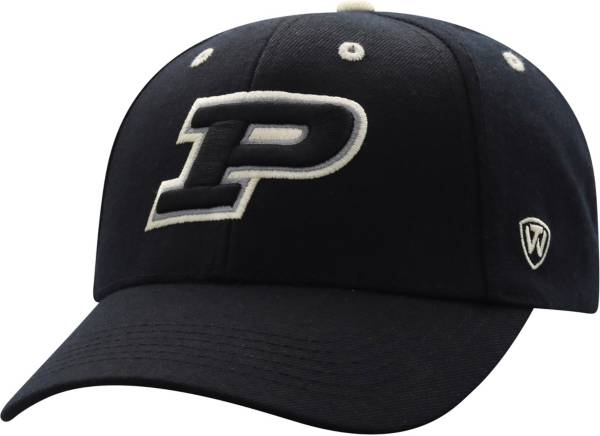 Top of the World Men's Purdue Boilermakers Triple Threat Adjustable Black Hat product image