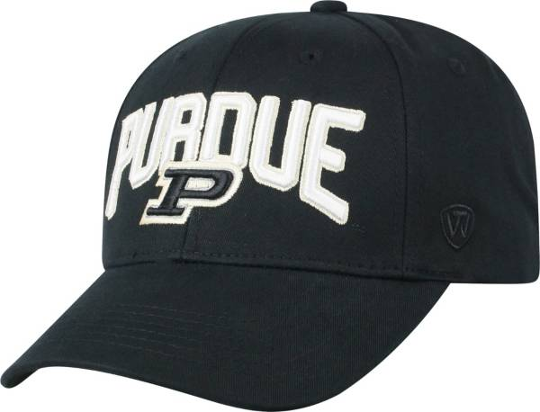 Top of the World Men's Purdue Boilermakers Overarch Adjustable Black Hat product image