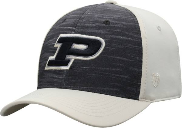 Top of the World Men's Purdue Boilermakers Grey/Old Gold Pepper 1Fit Flex Hat product image