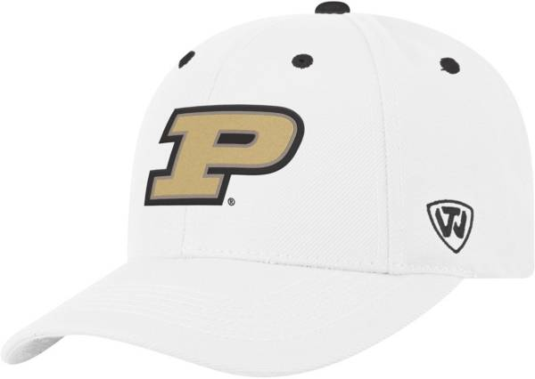 Top of the World Men's Purdue Boilermakers Triple Threat Adjustable White Hat product image