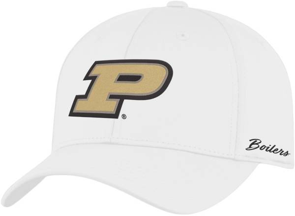Top of the World Men's Purdue Boilermakers Phenom 1Fit Flex White Hat product image