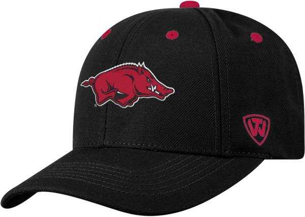 Top of the World Men's Arkansas Razorbacks Triple Threat Adjustable Black Hat product image