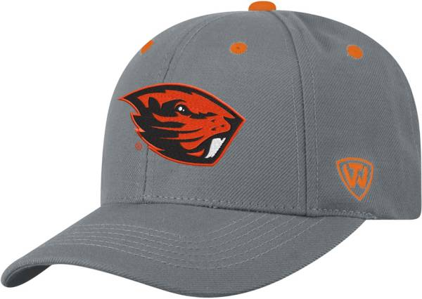 Top of the World Men's Oregon State Beavers Grey Triple Threat Adjustable Hat product image