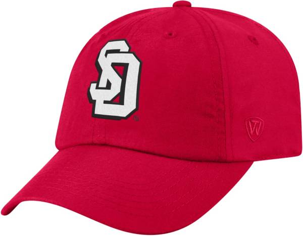 Top of the World Men's South Dakota Coyotes Red Staple Adjustable Hat product image