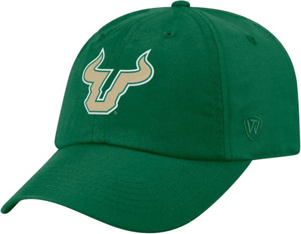 Top of the World Men's South Florida Bulls Green Staple Adjustable Hat product image