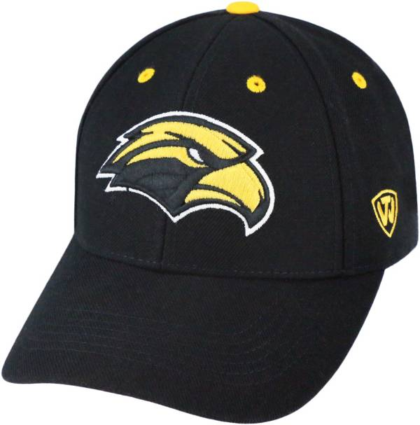 Top of the World Men's Southern Miss Golden Eagles Triple Threat Adjustable Black Hat product image